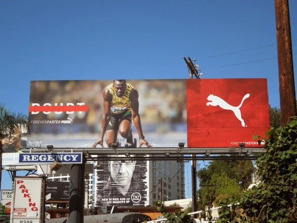 Puma Forever Faster Usain Bolt No doubt billboard