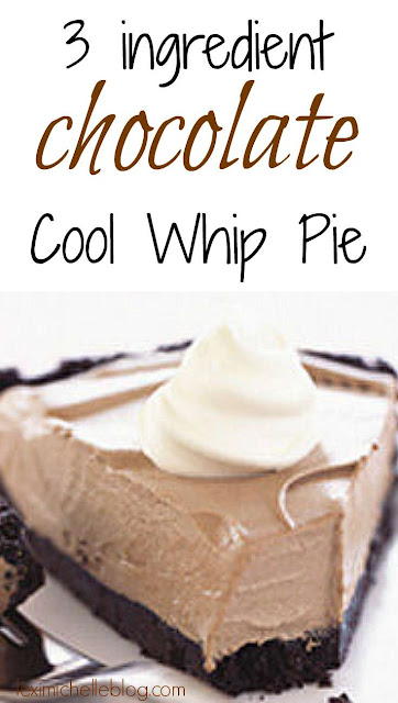 - 3 ingredient chocolate cool whip pie