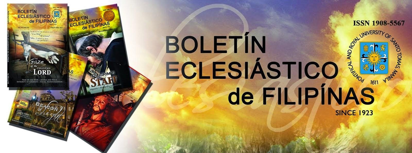 Boletín Eclesiástico de Filipínas (since 1923)