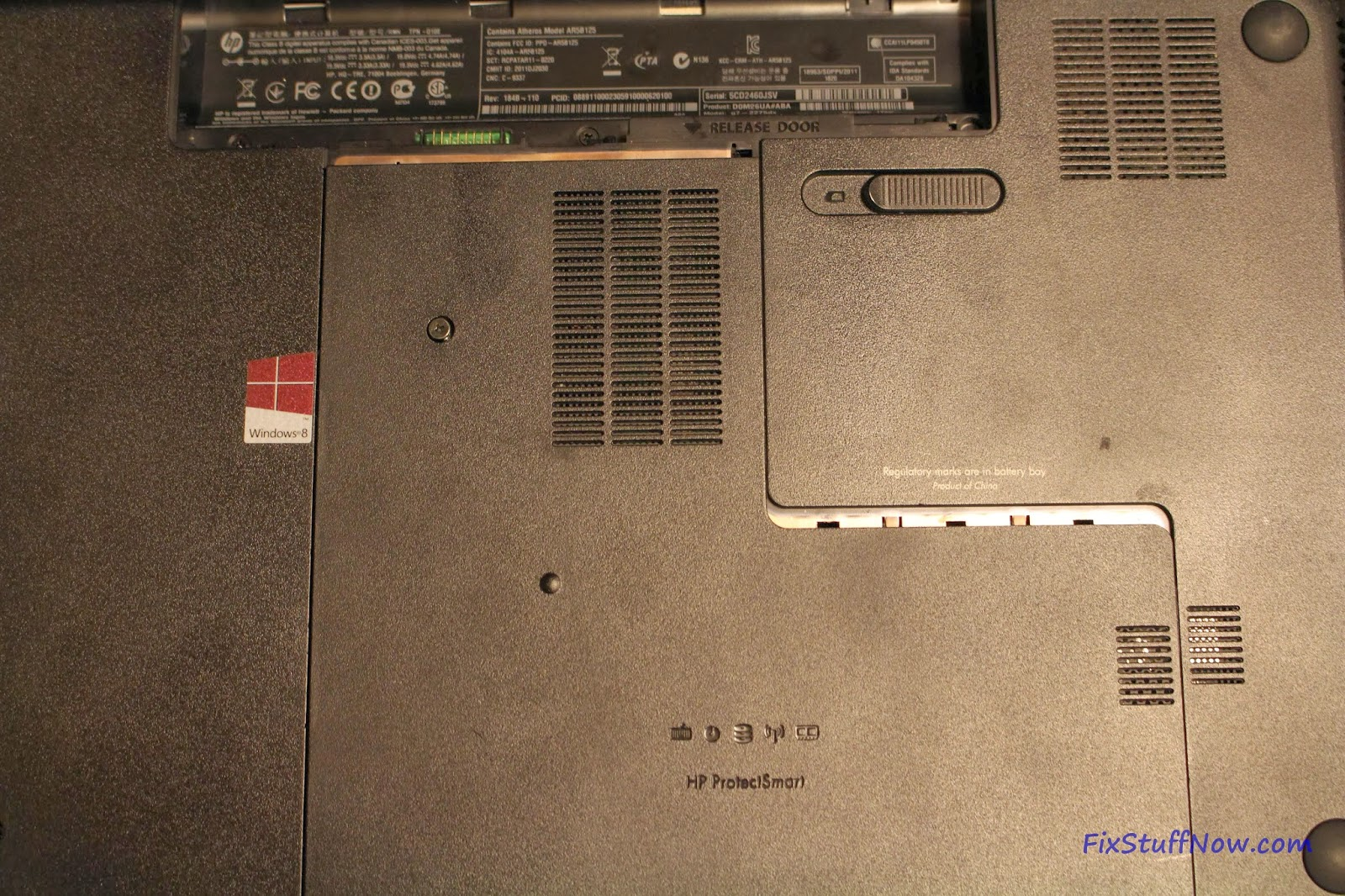 Replacing the Keyboard on an HP Pavilion G7 Laptop: Step 2b