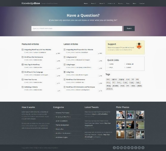 Knowledge Base is a Premium WordPress Theme