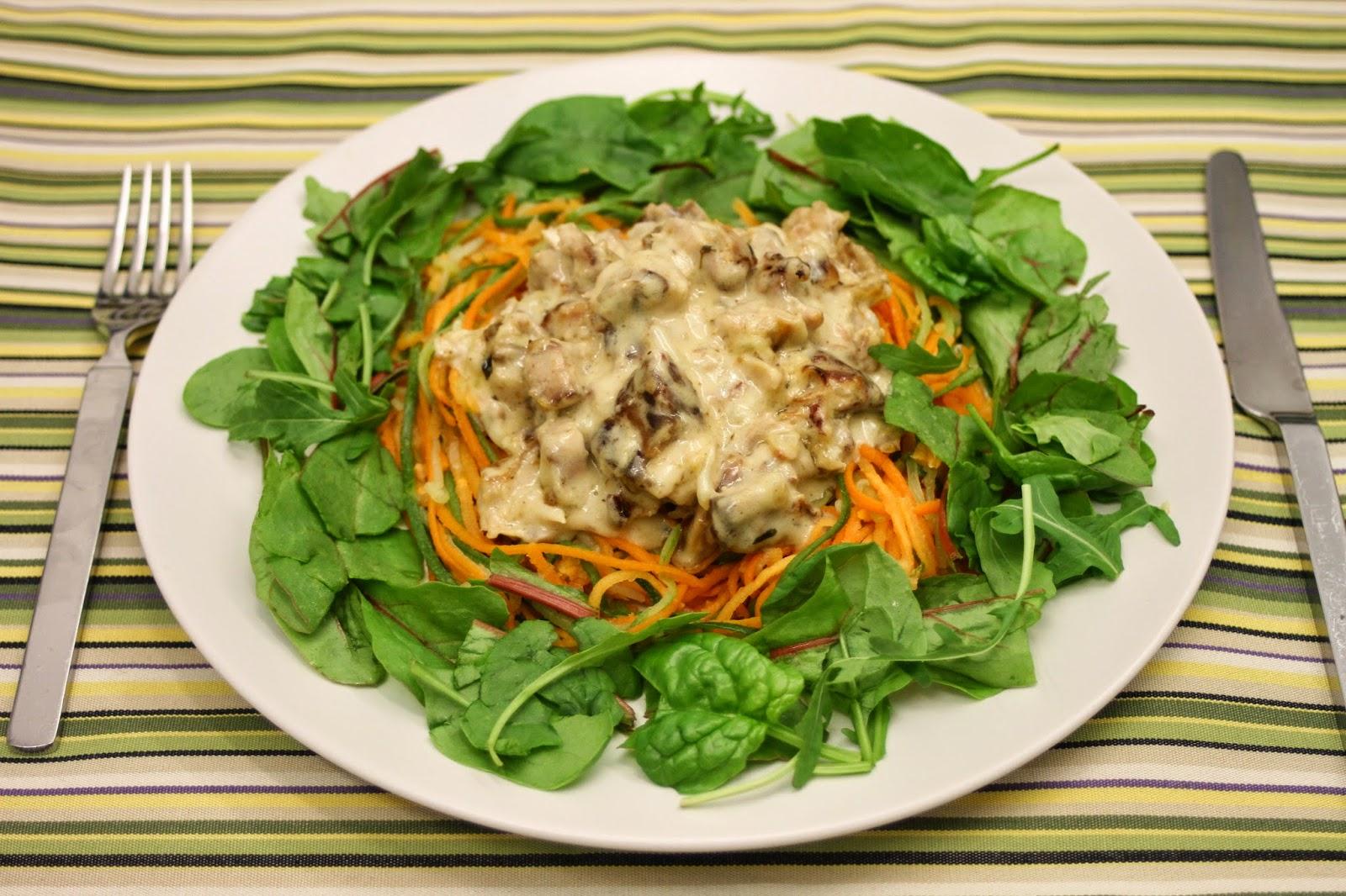 Kasvissuikalespagettia ja possunribsikastiketta