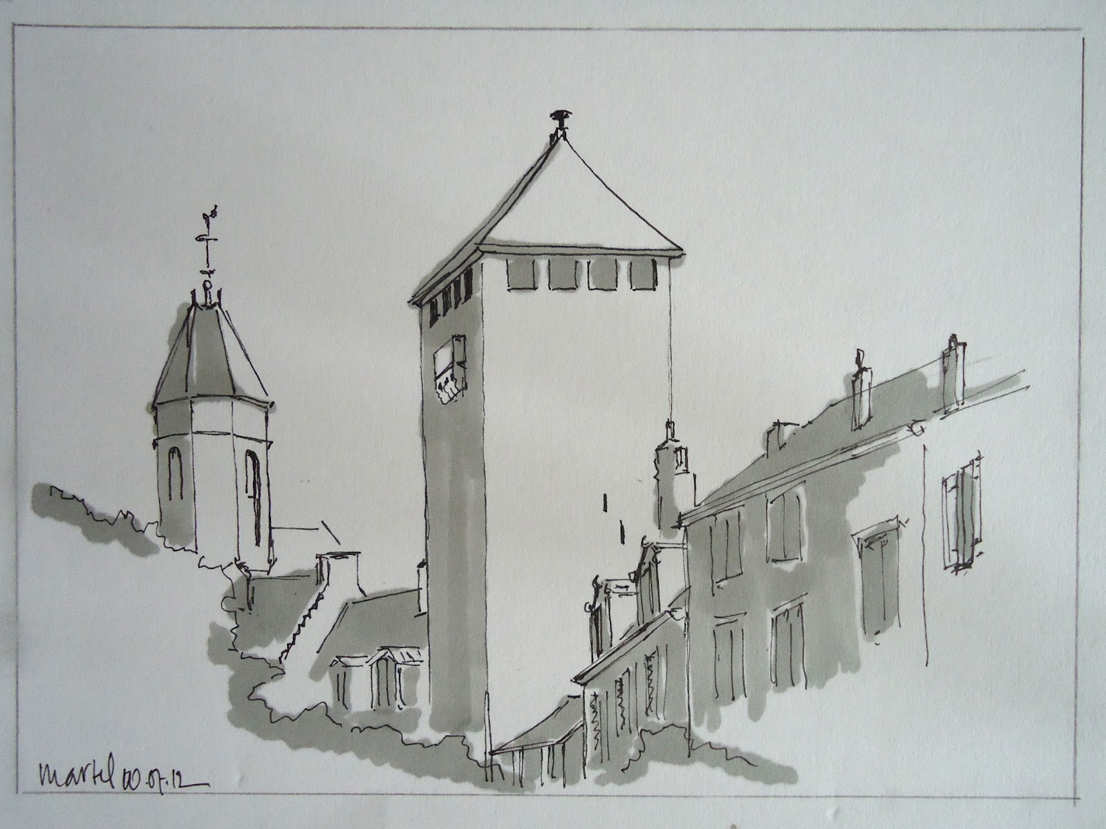 Cityscape Pencil Drawing Cityscape Drawings Pencil