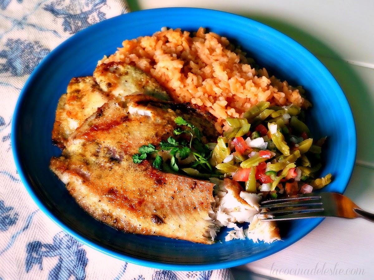 Baked Garlic Lime Tilapia - lacocinadeleslie.com
