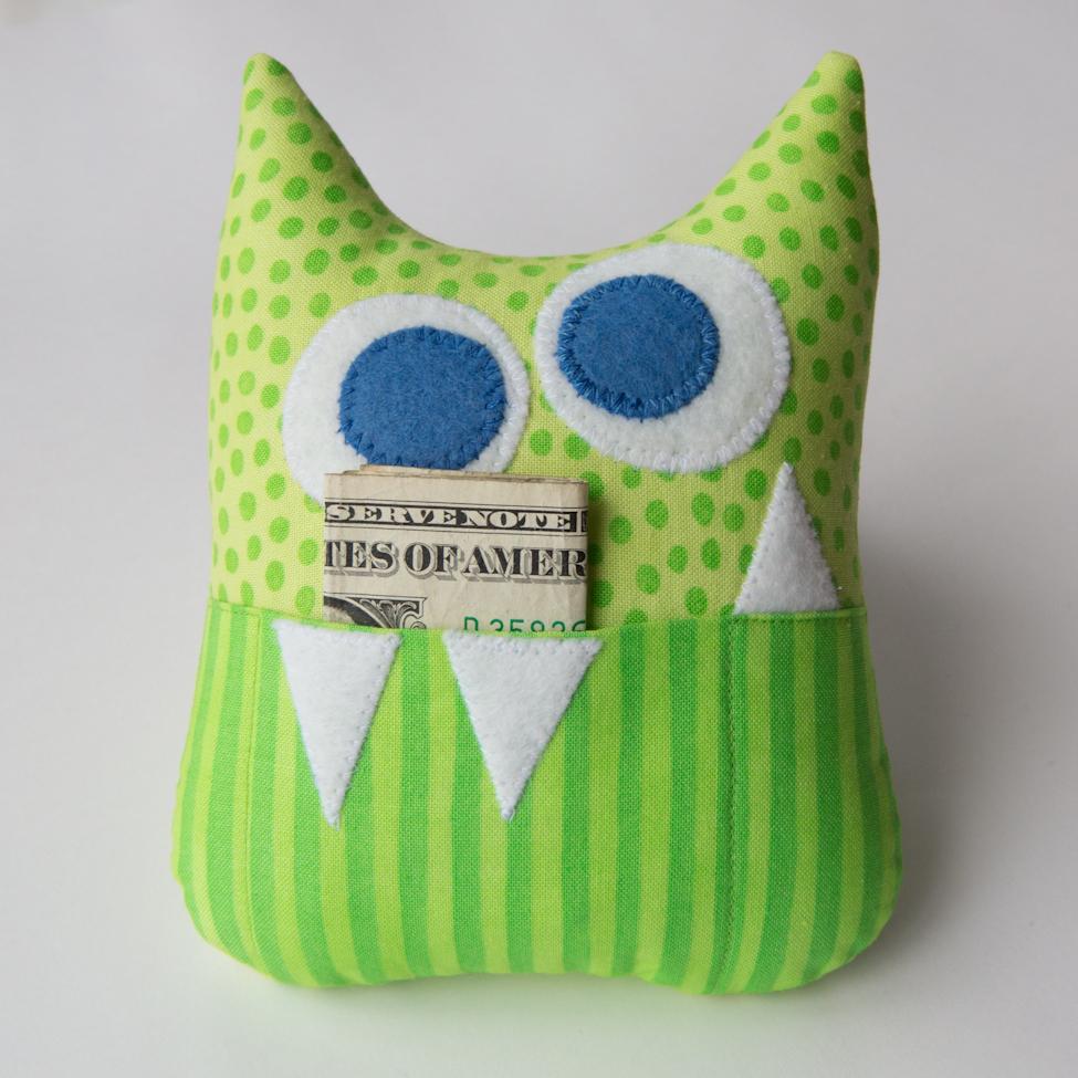 Cute Monster Pillow : .: March 12 - Little Monster Tooth Fairy Pillow