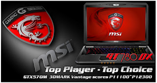 Notebook MSI GT780R