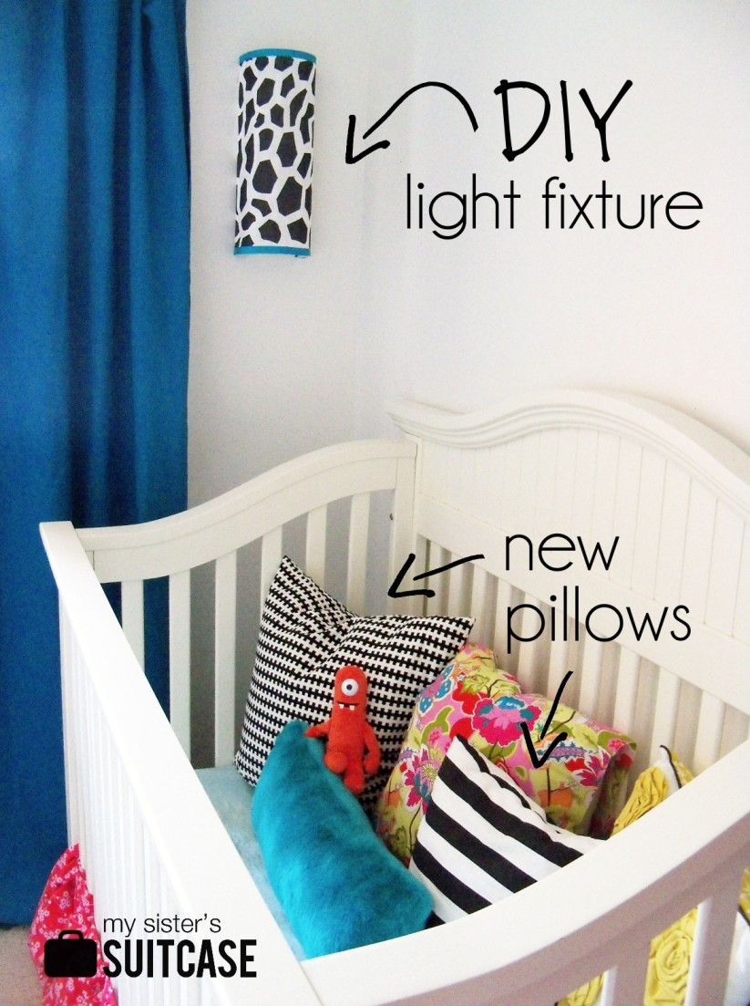 IKEA bag holder to DIY light fixture! - My Sister\'s Suitcase ...