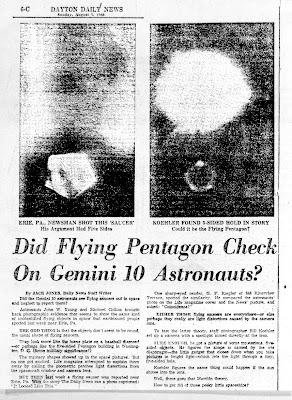 Did Gemini 10 Astronauts Photograph UFOs?