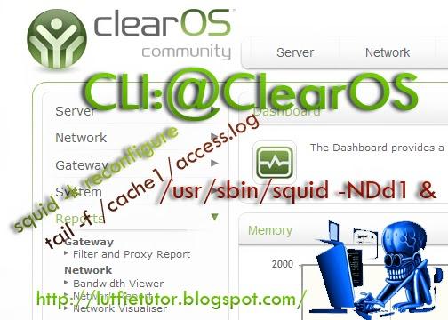 perintah cli linux clearOS totorial