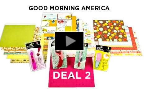 One Scrap At A Time Good Morning America Deal Today Only: go to the website