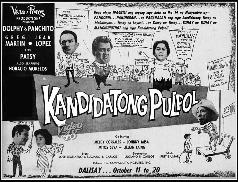 KANDIDATONG PULPOL (1961) - FULL MOVIE VERSION - stars DOLPHY ...