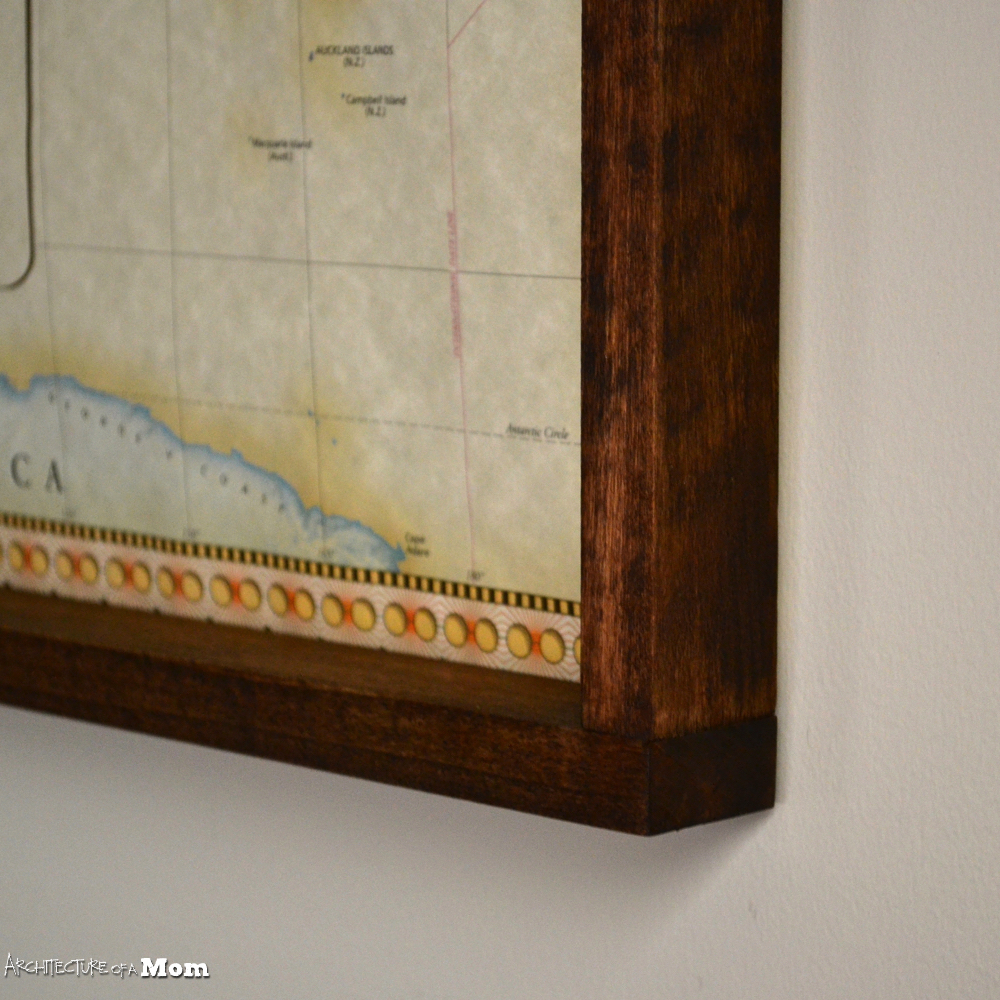 Architecture of a Mom: Easy Wood Frame for Large Format Art