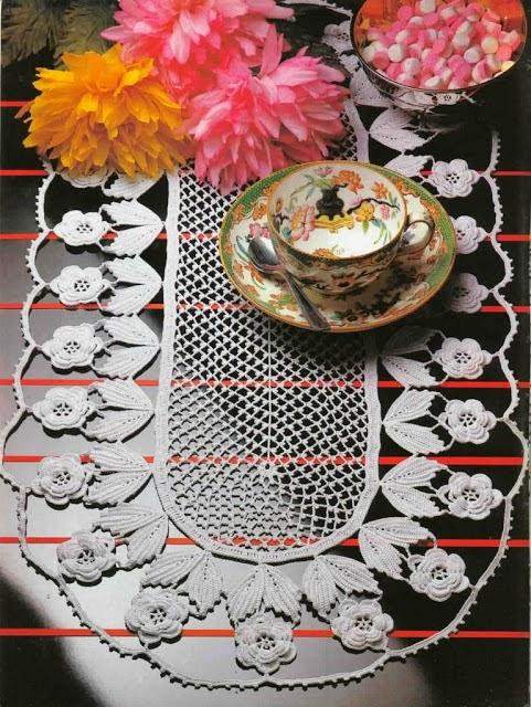 Camino de mesa crochet irlandés