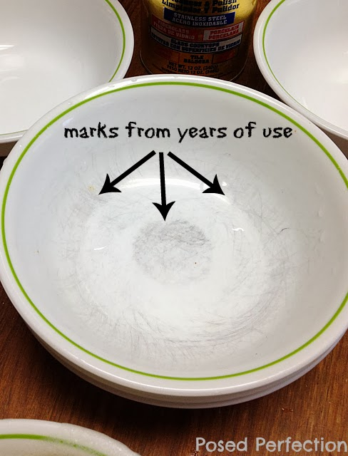 How to Clean Silverware Marks from Corelle Dishes & Posed Perfection: How to Clean Silverware Marks from Corelle Dishes