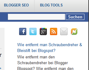Folgen Button Twitter Facebook Google* RSS Newsfeed eMail Blogger Blogspot