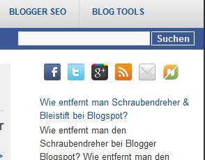 Folgen Button Twitter Facebook Google* RSS Newsfeed eMail Blogger Blogspot