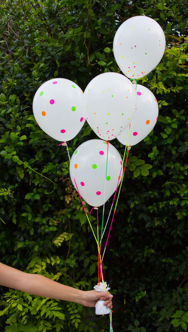 DIY Neon Sticker Balloons!