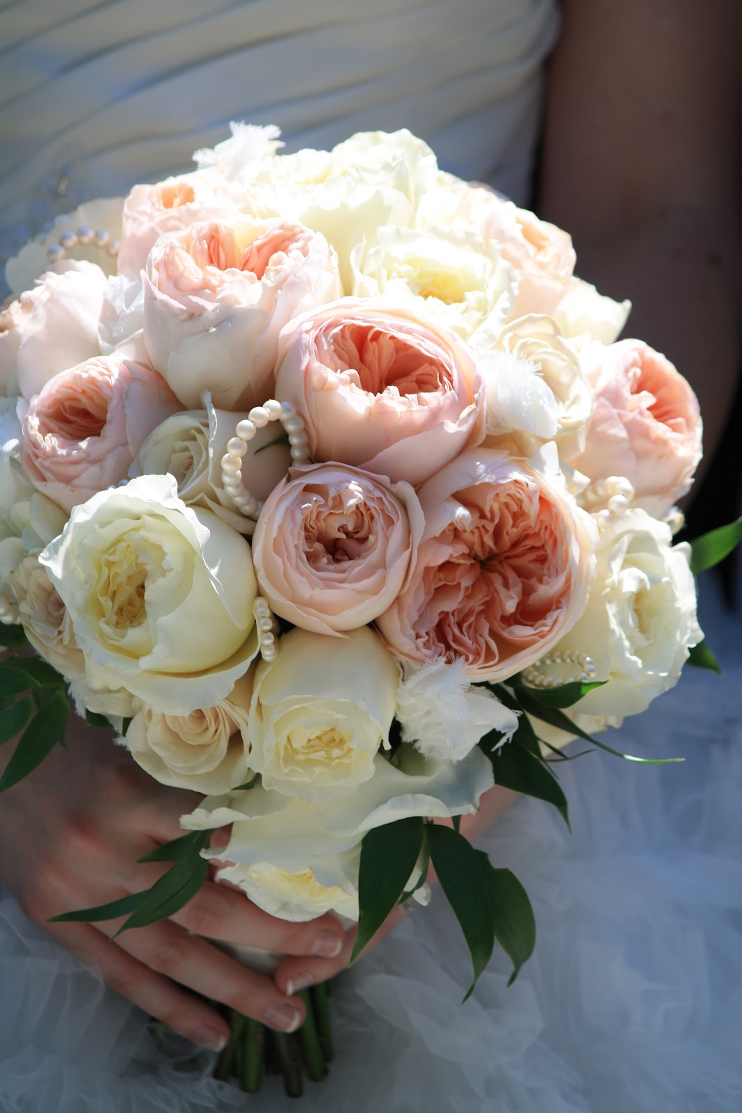 Rose Bouquet, Sahara roses, David Austin Juliet garden roses, Rose Bridal Bouquet, Rose Bouqet, Wedding Bouquet - Splendid Stems Wedding Flowers - Wedding Florist
