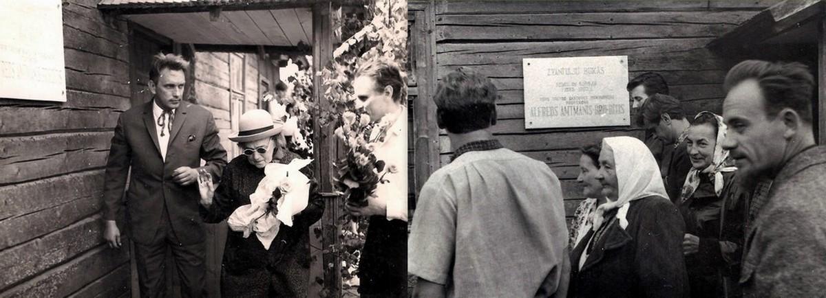 Memoriālās plāksnes atklāšana 1967. gada 4. jūnijā - 2