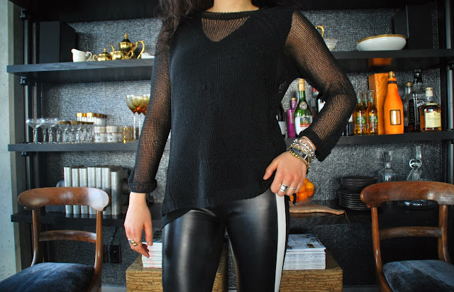 leather lover-sandro paris leather leggings mother's closet zara alexander wang loveyourself ootd aleexander wang2