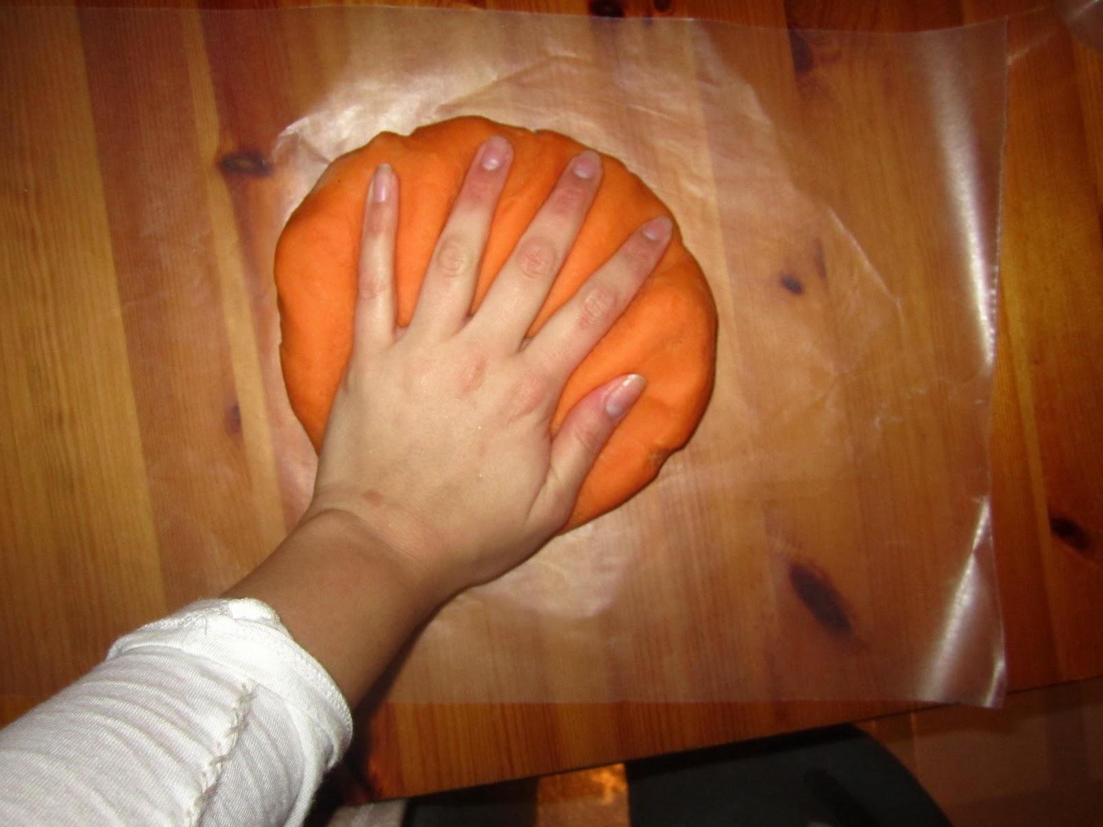 Playdough Clipart Dump play dough onto waxed