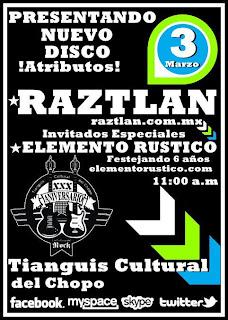 Presentando nuvo disco Raztlan