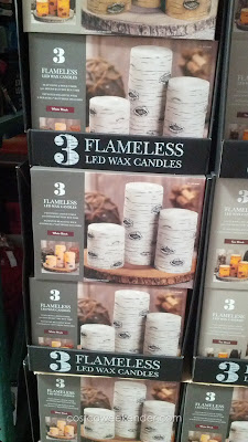 Add a feeling of warmth without all the mess – Flameless LED Wax Candles 3 Pack