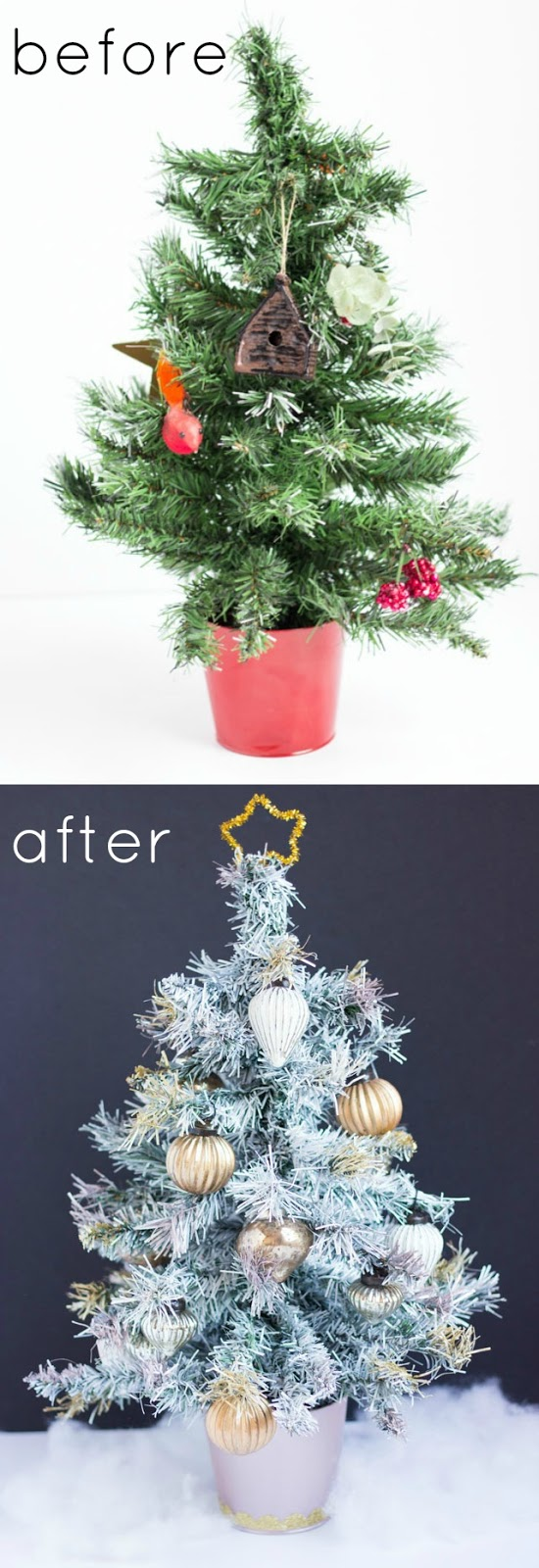 thrifty diy how to paint an artifical christmas tree - How To Paint A Christmas Tree