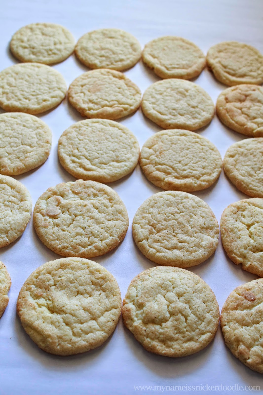 Seriously the best Snickerdoodle cookie EVER!  Completely moist, chewy and delicous!!!   My Name Is Snickerdoodle