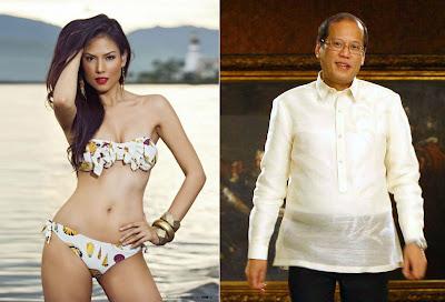 Bianca Manalo and President Benigno Aquino III