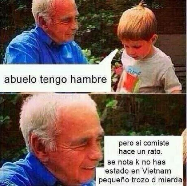 Abuelo dame comida