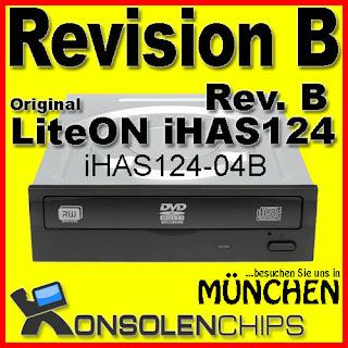 LiteON iHAS124B iHAS124-04B Rev. B   Für XBOX360 c4eva XGD3 BurnerMax Firmware