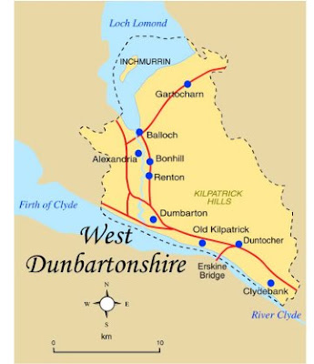 Map of West Dunbartonshire Province