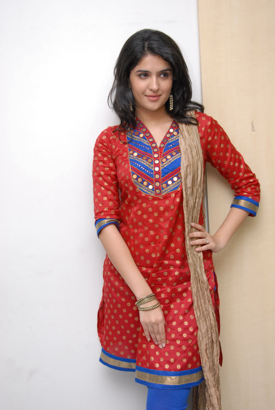 South Indian Beauty Deeksha Seth Beautiful At The Radio Mirchi Studios