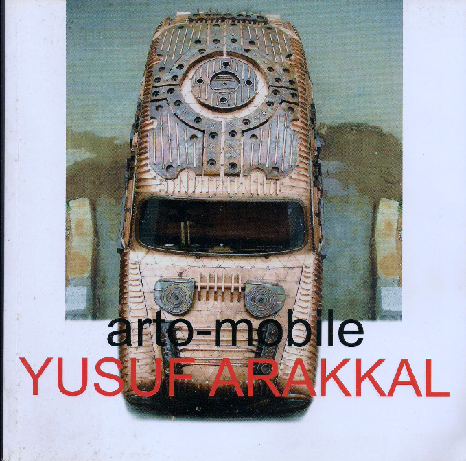 Yusuf Arakkal's catalog cover on Art Car
