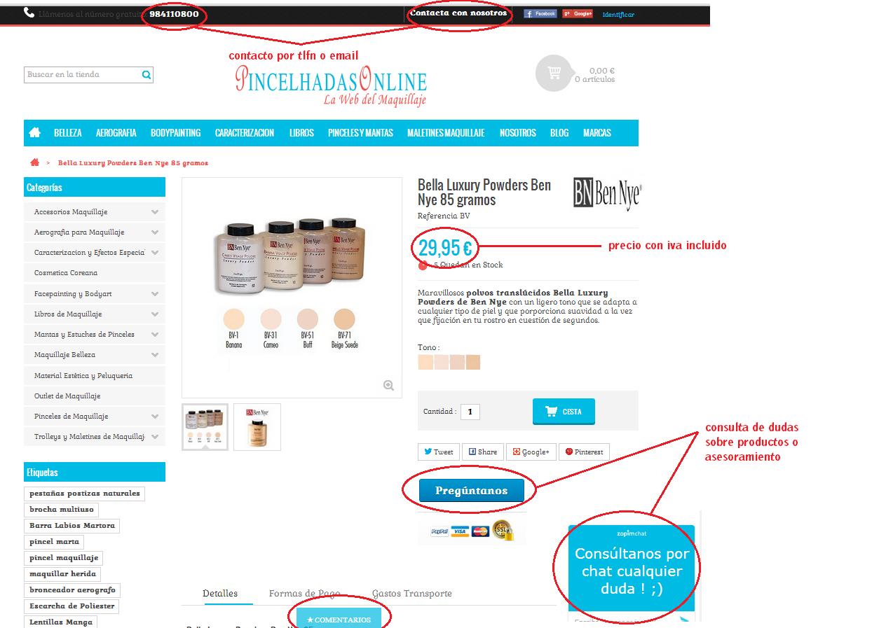tienda pincelhadasonline con sello confianza online