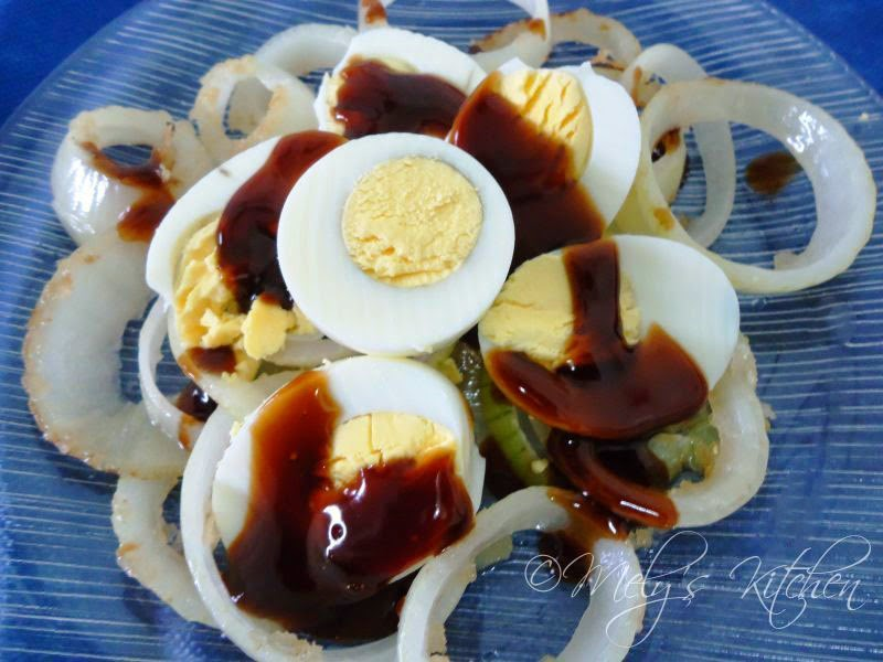 Hard boiled egg with Oyster sauce - Mely's kitchen