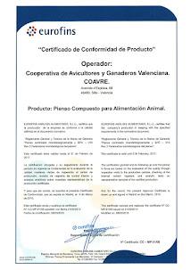 CERTIFICADO DE CONFORMIDAD DE PRODUCTO
