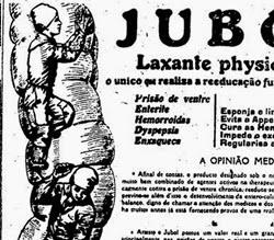 Propaganda do Laxante Jubol: promessa de deixar as tripas brilhando.