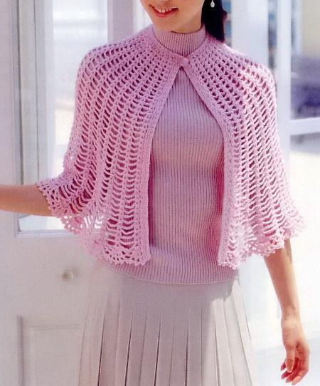 Crochet Patterns Capes : Stylish Easy Crochet: Crochet Cape Free Pattern - Simple and Beautiful