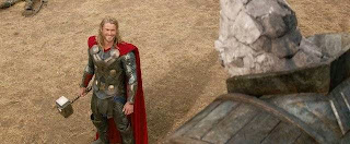 Chris Hemsworth in 'Thor The Dark World' - big monster, no prob