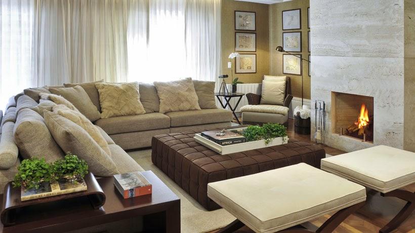 Projetos De Sala De Tv Com Lareira ~  Minha Casa Clean Dúvida da Leitora Raquel! Decoração das Salas