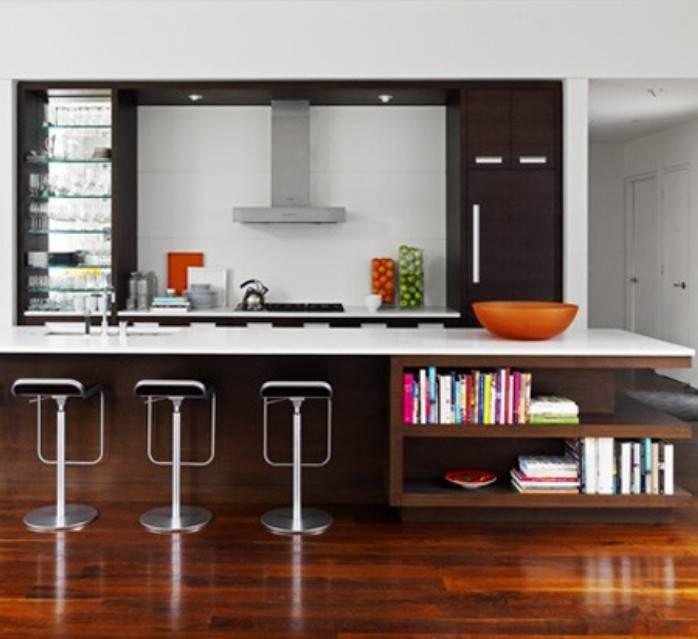 Ruang Dapur Kering Kontemporer
