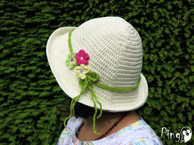 Crochet Hat Summer Breeze, free crochet hat pattern by Pingo - The Pink Penguin