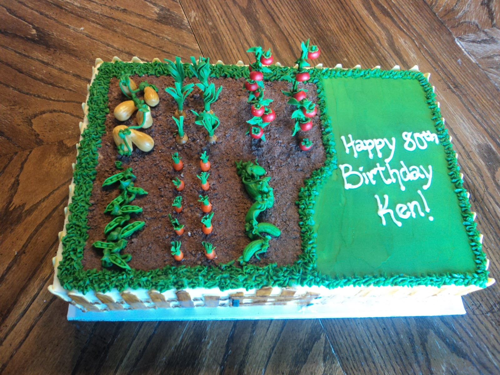 Delectable Cakes Vegetable Garden Birthday Cake