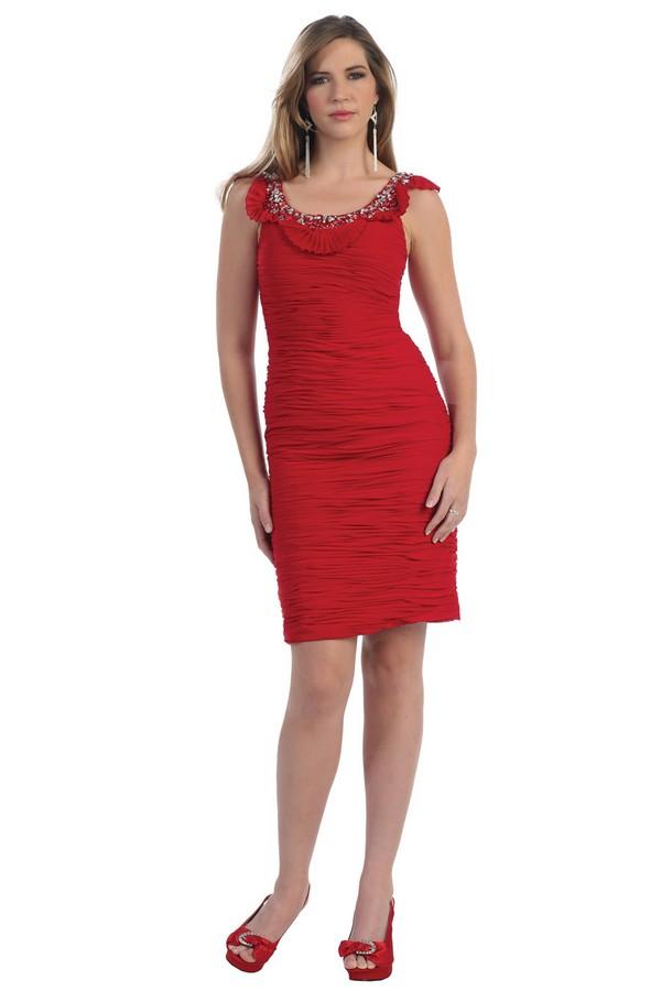 coiffurete dance robe de soir e rouge courte. Black Bedroom Furniture Sets. Home Design Ideas