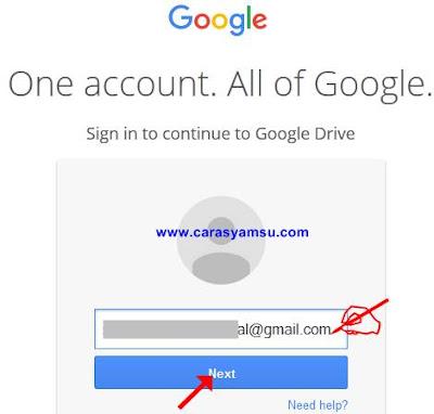 Masukkan Akun Email Gmail