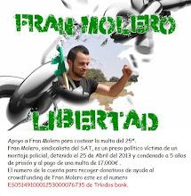 Apoyo a Fran Molero para costear la multa del 25A