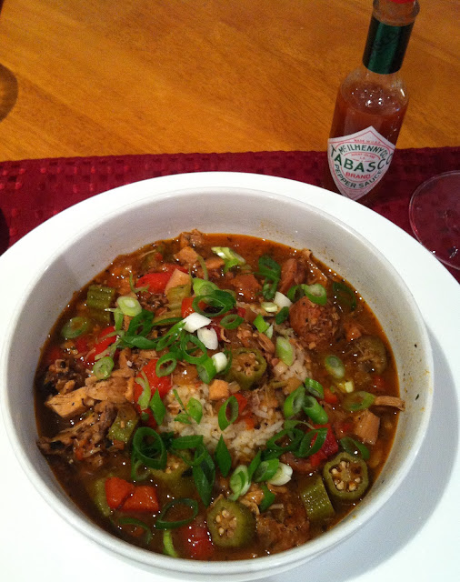 easy and delicious gumbo (no roux!) @ SouthernSpoon blog