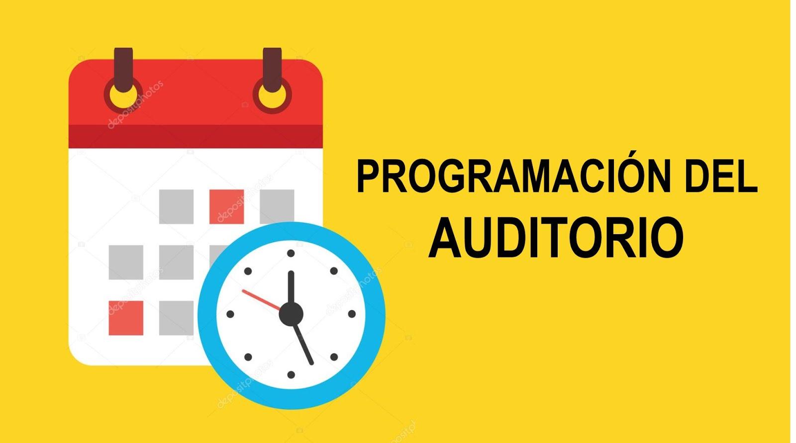 Programación del Auditorio